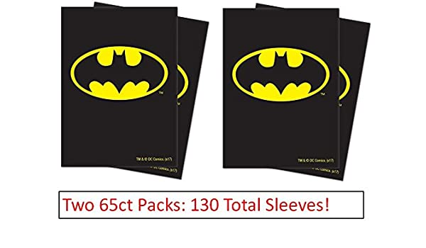 130ct Official Justice League Batman Deck Protector Sleeves