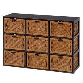 ランドリー キャビネット チェスト アジアン家具 籐家具 RN-2659 収納BOX 収納ケース 枯淡/こたん