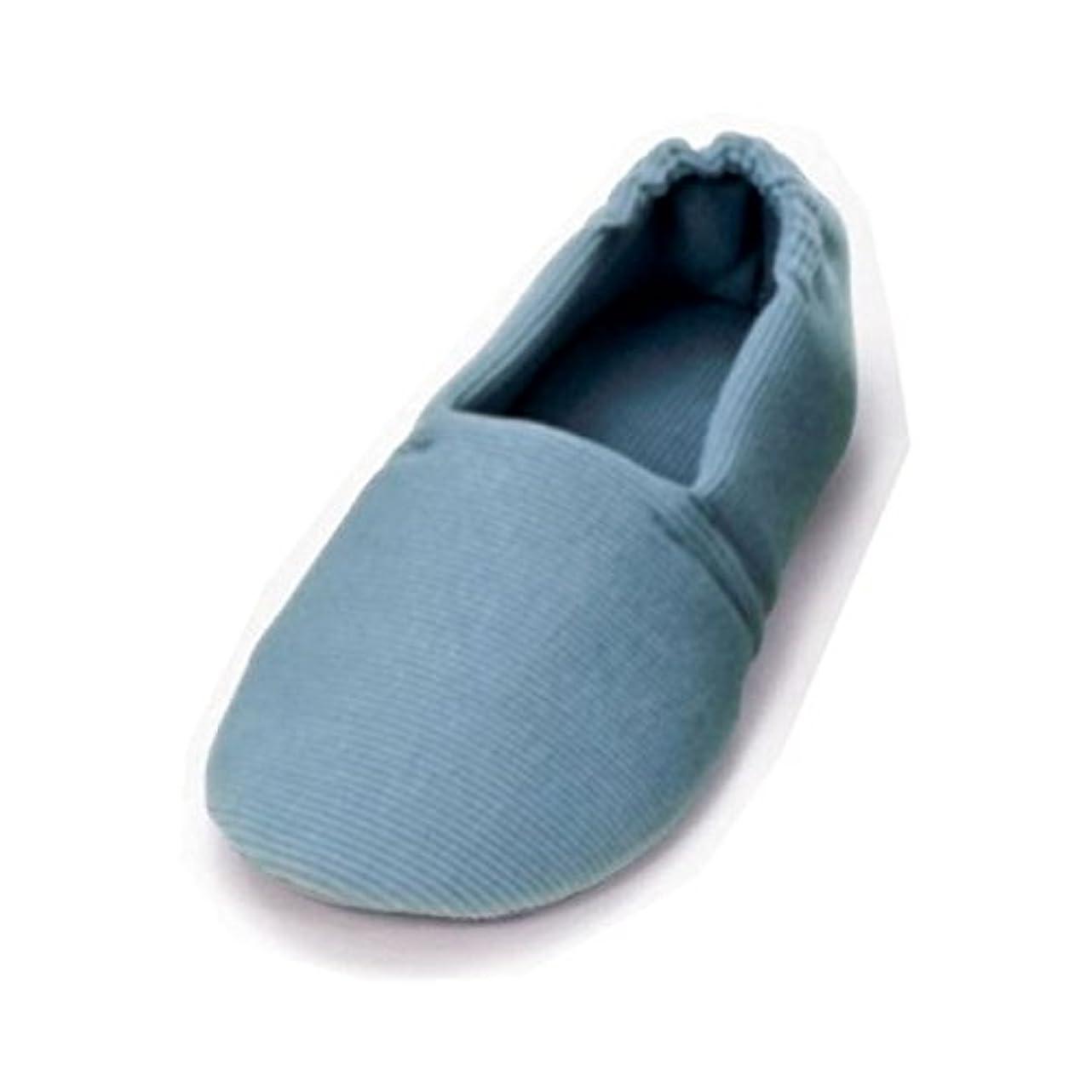 もう一度安西贈り物介護靴 室内用 エスパドワイド 2704 両足 徳武産業 あゆみシリーズ /L(23.5~24.5cm) ブルー ファッション 靴 シューズ サポートシューズ 室内用 [並行輸入品]