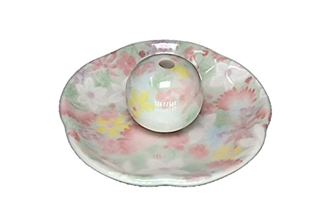 タイプ舗装球状華苑 花形香皿 お香立て 日本製 製造 直売品