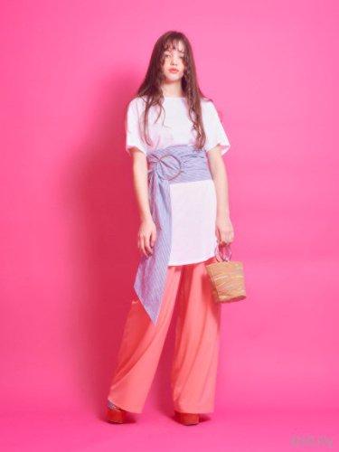 lilLilly (リルリリー) サッシュベルトカットドレス