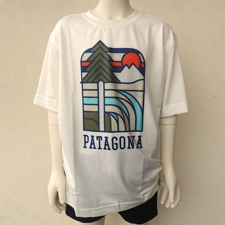 PATAGONIA(パタゴニア) BOYS' CAPILENE DAILY GRAPHIC TEE (110-165) Tシャツ M:140,WHI