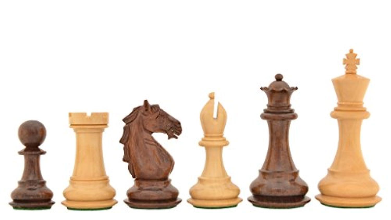 Chessbazaar The Staunton Series Wooden Weighted Chess Pieces In Shesham & Box Wood