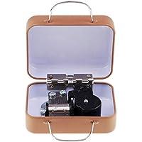 perfk スーツケース機械オルゴール 完璧な装飾 クリエイティブ 誕生日 ギフト スーパー  ミニメタルスーツケースオルゴール 全6カラー - E