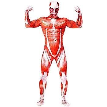 進撃の巨人 超大型巨人 全身タイツ コスチューム 人体模型 ハロウィン パーティ コスプレ (M)