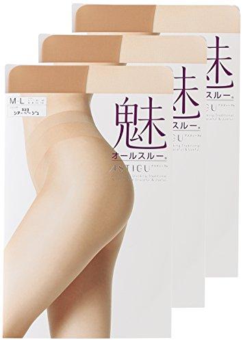 (アツギ)ATSUGI ストッキング ASTIGU(アスティーグ) 【魅】 素肌感 オールスルー ストッキング〈3足組〉 FP5930 323 シアーベージュ L~LL