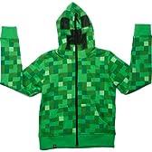 Minecraft Creeper Premium Zip-Up Youth Hoodie Small マインクラフト クリーパープレミアム シップアップパーカー Mサイズ【並行輸入】