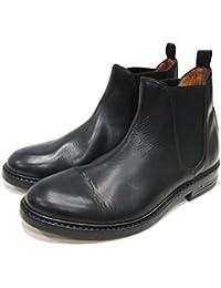 【BUTTERO ブッテロ】 レザーサイドゴアブーツ 本革 カジュアルブーツ (B4922 TOLFA) ブラック