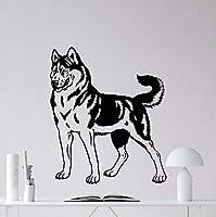 Mingld 家の装飾犬の壁デカールビニール保育園ペットのリビングルームの装飾ビニールの壁アートステッカー犬動物の壁の壁画42×50センチ