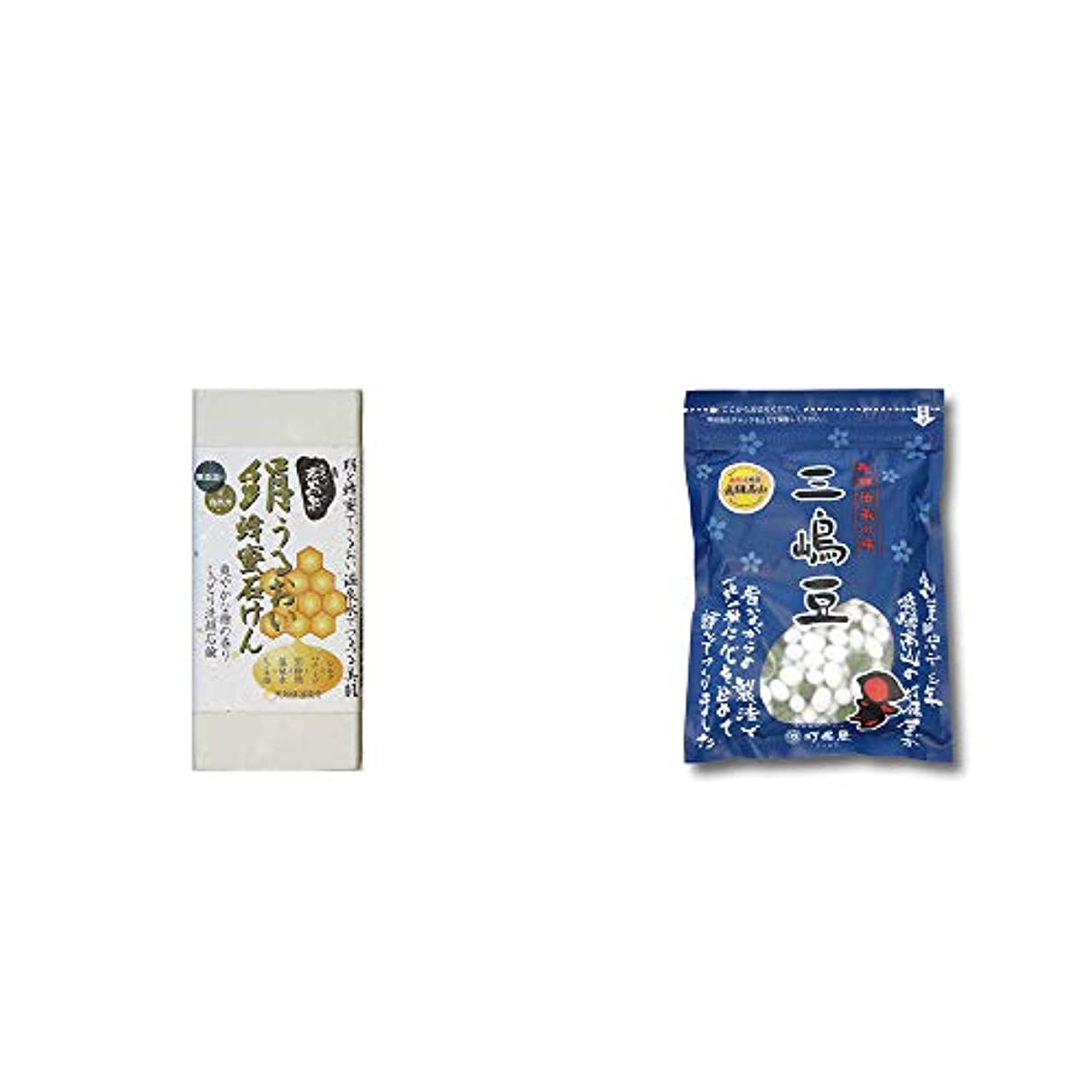コンサルタントアイスクリーム部門[2点セット] ひのき炭黒泉 絹うるおい蜂蜜石けん(75g×2)?飛騨 打保屋 駄菓子 三嶋豆(150g)