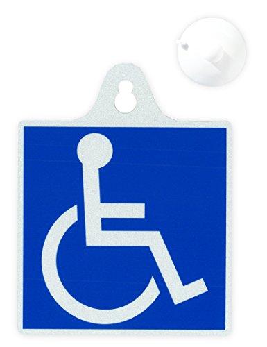 AMUZ 国際シンボルマーク 車椅子 反射タイプ 吸盤 11...
