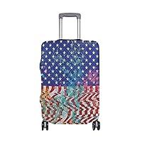 スーツケースカバー 自由 目立つ 洗える 伸縮素材 旅行 弾性設計 防塵 ラゲッジカバー キャリーカバー 人気 S M L サイズ