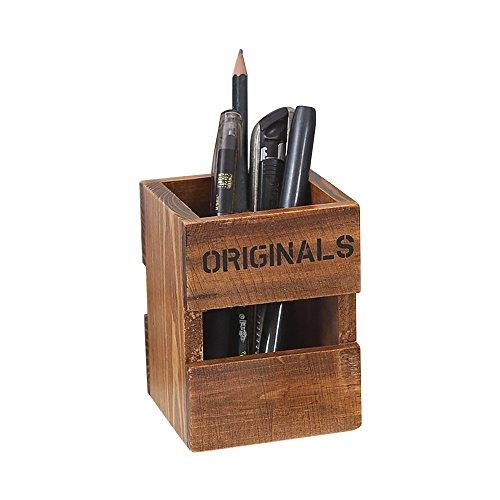 Zhi Jin おしゃれなペン立て オフィス用品  木製文具ケース 卓上 整理ケース収納ケース 収納ボックス ...