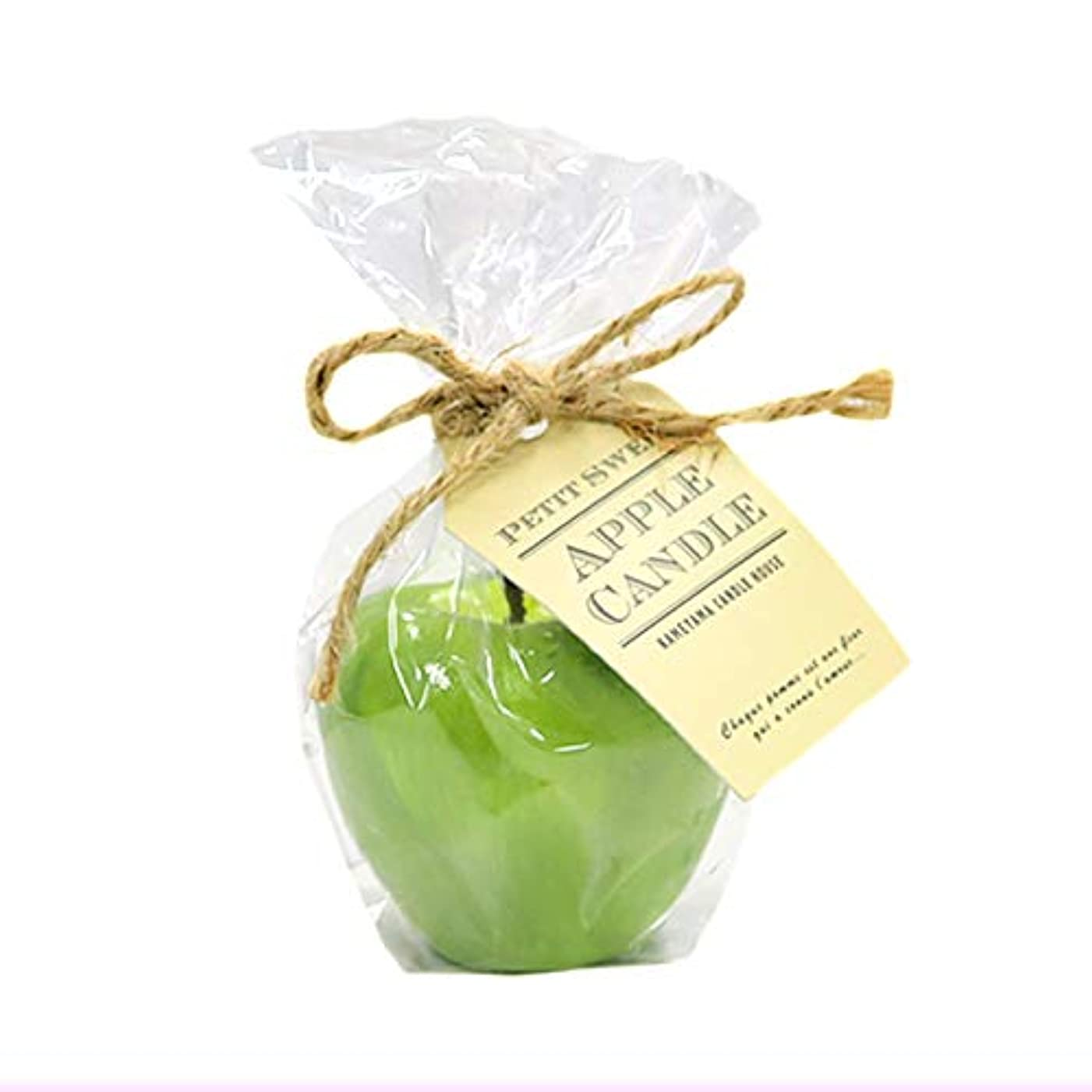 そよ風没頭する形カメヤマキャンドルハウス プチスイートアップルフローティングキャンドル グリーン アップルの香りつき