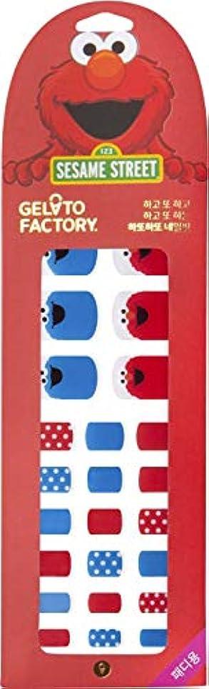 ハイジャック旅行代理店主観的損傷のないフットネイル★ジェラートファクトリー★ 貼るだけマニキュア (ハッピーエルモ)