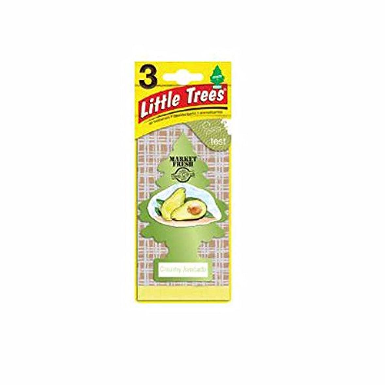 常習者毎年船酔いLittle Trees 吊下げタイプ エアーフレッシュナー creamy avocado(クリーミーアボカド) 3枚セット(3P) U3S-37340