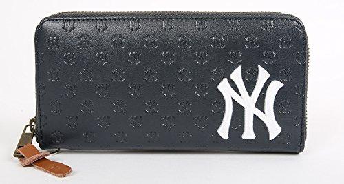 (ニューヨークヤンキース) NEW YORK YANKEES 財布 メンズ 長財布 ヤンキース 合皮 PUレザー 4color Free ネイビー