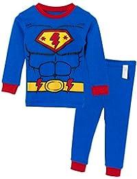Unifriend 9分袖 9分丈 長袖 ベビ キッズ 男児・女児 綿100% オーガニック ルームウェア パジャマ ねまき 上下セット