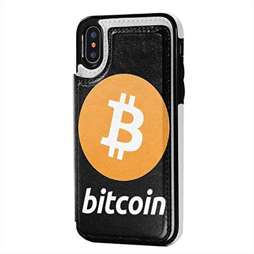 Zokiy ビットコインロゴビットコインサイン IPhone X/XS用ケースレザーカードスロット Black One Size