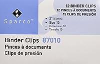 s.p. Richards会社Largeバインダークリップ、幅2インチ、1インチ容量、12perボックス、ブラック( spr87010)