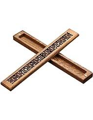 フェリモア 横置き香炉 お香立て 灰が飛びにくい ウェンジ 木製ボックス コンパクト インテリア