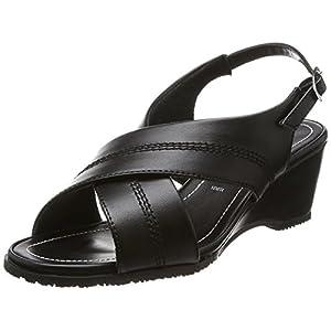 [ロメオ バレンチノ] オフィスサンダル バックバンド オフィス ヒール6cm 3E 室内履き B17067 ブラック 24.5~25.0 cm 3E