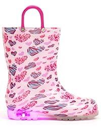 850169eae5a12  MOFEVER  キッズ レインブーツ レイン子供用 長靴 光る靴 ハンドル レインブーツ キッズ ジュニア 男の子 女の子 雨靴 おしゃれ  レインシューズ 滑り止め…
