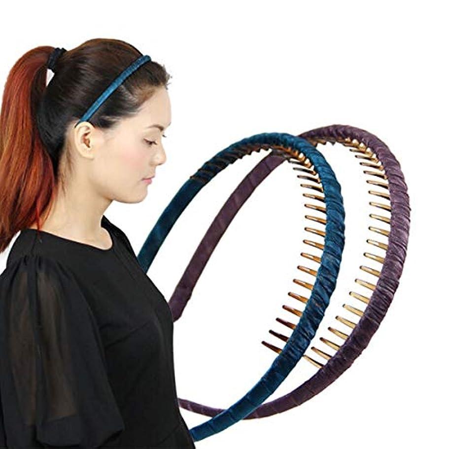 ゲートウェイゴール椅子ヘアクリップ、ヘアピン、ヘアグリップ、ヘアグリップ、ヘアバンド手縫いのヘッドバンド歯の仕上げヘアアクセサリーエンボスフローラルヘアピン青、赤、紫 (Color : Black)