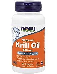 [海外直送品] ナウフーズ   Neptune Krill Oil 60 Sgels 500 mg