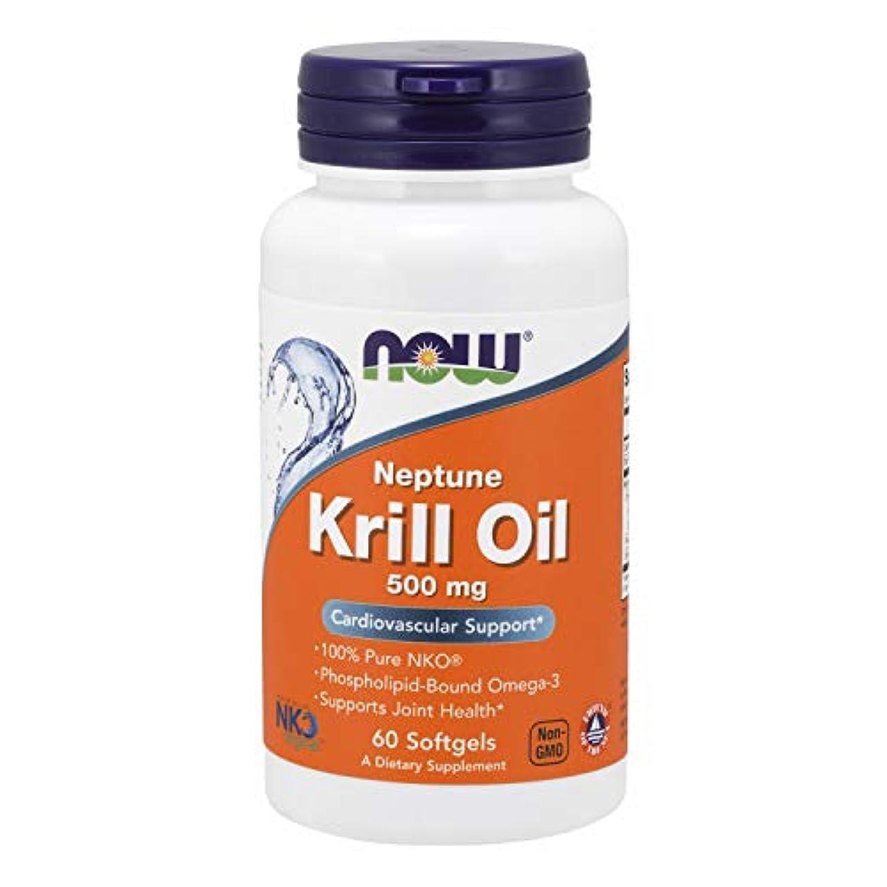 頂点想定する包帯[海外直送品] ナウフーズ   Neptune Krill Oil 60 Sgels 500 mg