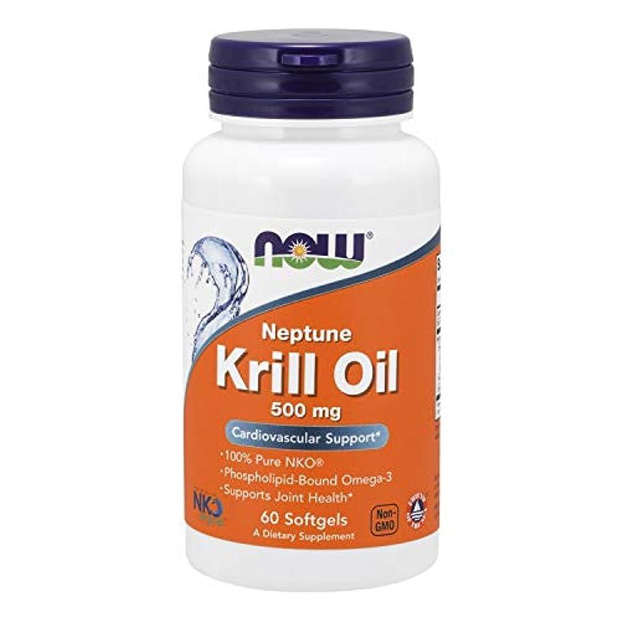 チャペル慎重にコイル[海外直送品] ナウフーズ   Neptune Krill Oil 60 Sgels 500 mg