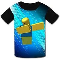 QIANBAIHUI Kids Youth Rob-lox 3D Printed O-Neck T-Shirt Tees