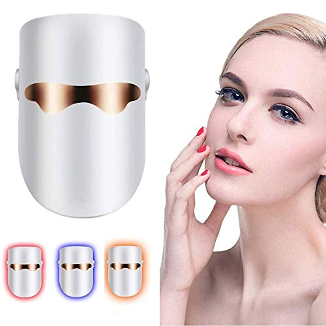 すごい投票全能レッド/ブルー/オレンジの個別ライト - ライトセラピーは、アクネスポットフェイススキンケアのためのフェイシャル・セラピー無制限のセッションをマスクにきび治療LEDマスク