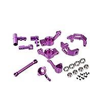 Hsp rc 1/10アルミフロントトッププレートアルミステアリングハブマウントキャリア102010 102011 102012用モンスタートラックredcat火山epx-Purple部品交換