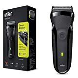 Braun Series 3 300s Rechargeable Electric Shaver, Black