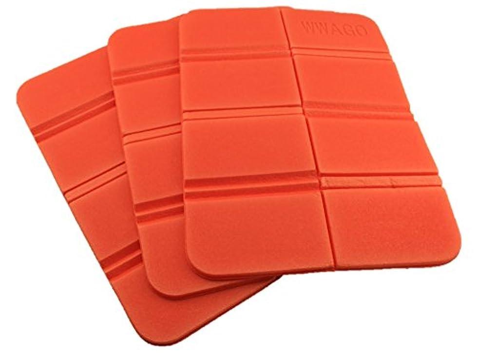 あからさま思慮のないドライバ【3個セット】 折り畳み マット 座布団 8つ折り 軽量 コンパクトで持ち 運びに便利