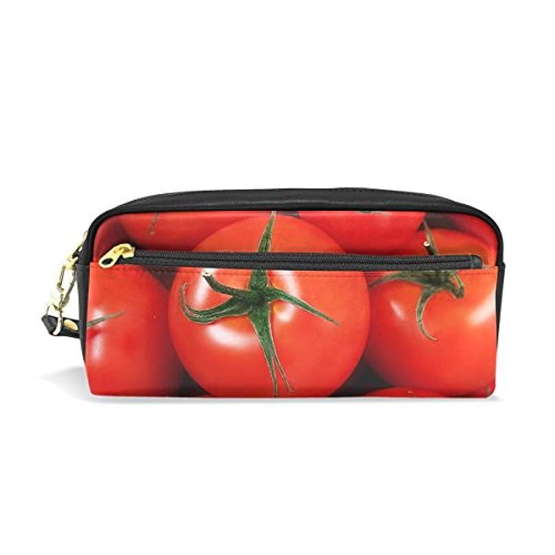 振り子おレバーAOMOKI ペンケース 化粧ポーチ 小物入り 多機能バッグ レディース トマト