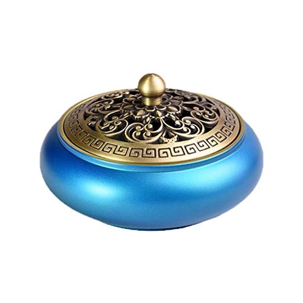 ファセットしょっぱいミッション芳香器?アロマバーナー 純銅香炉、色蓮香炉、現代中国の家庭用屋内、青蓮香炉 アロマバーナー (Color : Blue)