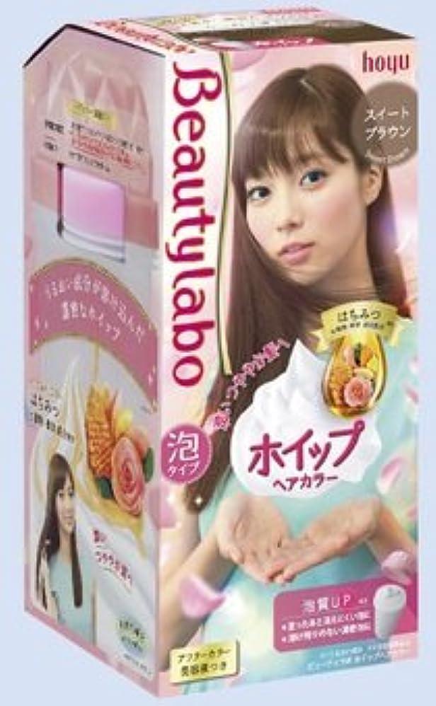 脆い配分編集者BeautyLabo(ビューティラボ) ホイップヘアカラー スイートブラウン × 24個セット