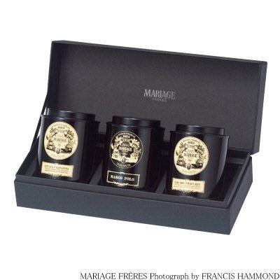 マリアージュフレール 紅茶 3銘柄の贈り物 <br />(マルコポーロ、フレンチブルー、ラトナピュラ) 1セット
