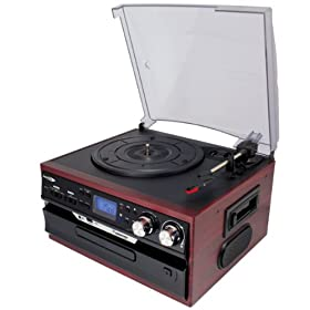 クマザキエイム Bearmax マルチ・オーディオ・システム [SDカード・USBメモリにダイレクト録音可能] ローズウッド×ブラック MA-17CD