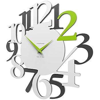 f56964f0c8 Amazon|デザイナーズクロック 「TIME2PLAY」掛け時計 おしゃれ ...