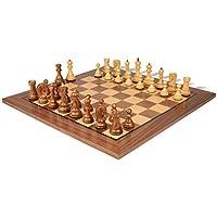 Yugoslavia Stauntonチェスセットin Goldenローズウッド& Boxwood with Walnutチェスボード – 3.875