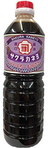 鹿児島の甘い醤油 サクラカネヨ むらさき 1リットル