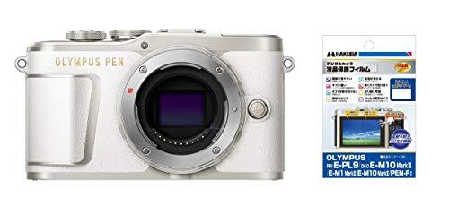 OLYMPUS ミラーレス一眼 PEN E-PL9 ボディー ホワイト + HAKUBA 専用液晶保護フィルムセット