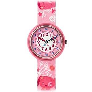 [フリックフラック]FLIK FLAK 腕時計 キッズ腕時計 Cute-Size(キュートサイズ) PINK BAU BAU(ピンク・バウバウ) ZFBN064 ガールズ 【正規輸入品】