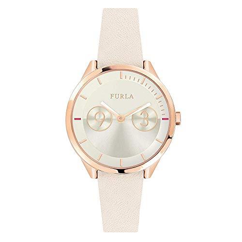 [フルラ]FURLA レディース METROPOLIS メトロポリス ローズゴールド ホワイト レザー R4251102542 腕時計 [並行輸入品]