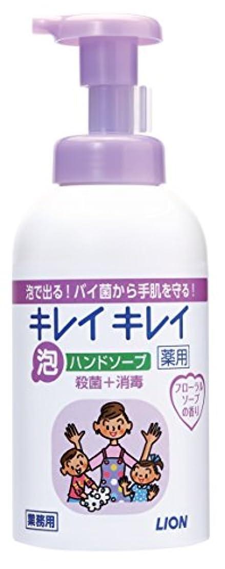 不確実鳴らすためにキレイキレイ 薬用泡ハンドソープ フローラルソープの香り 550ml