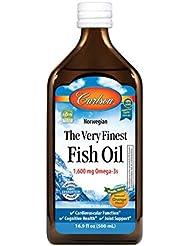 Carlson Labs Very Finest Liquid Fish Oil, Orange, 500ml by Carlson Laboratories