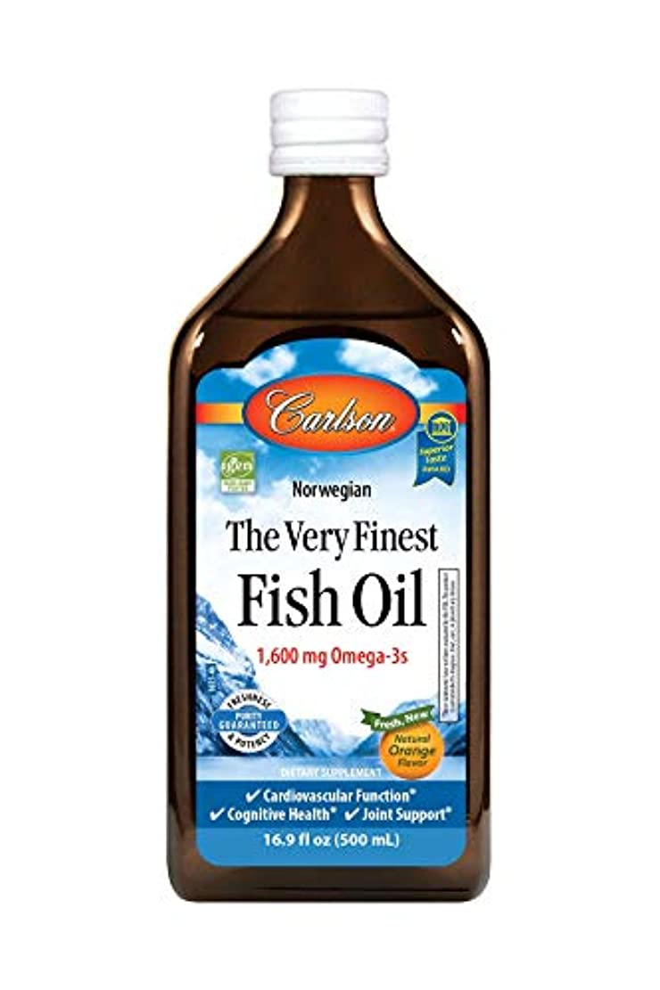 真剣にスペード盆Carlson Labs Very Finest Liquid Fish Oil, Orange, 500ml by Carlson Laboratories